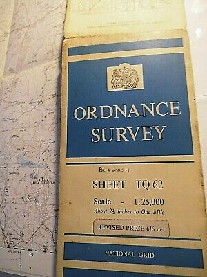 """Sussex: Burwash, Upper Rother, Stonegate:2 1/2"""" Detail 1908-59 Os Annotated Map"""