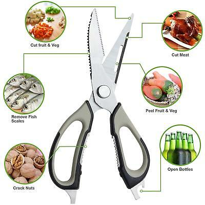 Kitchen Shears Scissors Ultra Sharp Stainless Steel for Chicken Poultry Fish BBQ