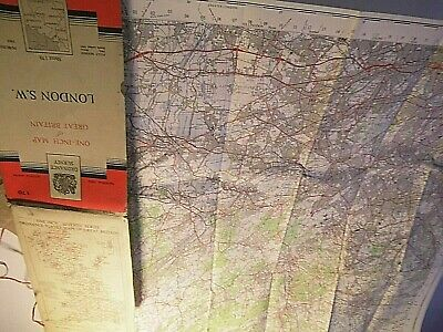 London South West: Surrey,Middlesex: Os Map 170 1963-6 Classic Series 7 Post War