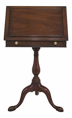 46944EC: KITTINGER T-736 Mahogany Book Stand Pedestal Table