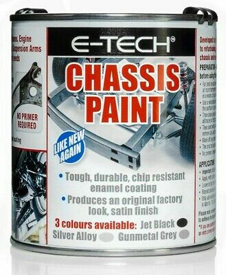 E-Tech Quick Repair, Protect & Restore Car Underbody Chassis Paint - BLACK 500ML