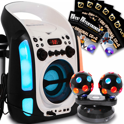 Portable Vocal Karaoke Machine CDG Disc Speaker with Bluetooth and 131 Songs