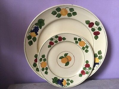 Pottery Antique Stunning Adams Royal Ivory Titian Ware Extremely Rare Plate 1905.