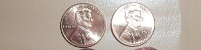 2014 P & D Uncirculated Lincoln Shield Penny's 1 Cent