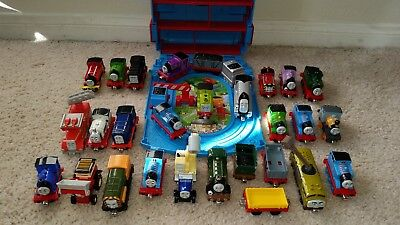 Thomas the Train Die-Cast Cars, Tracks, Take-N-Play, Carry Case - Lot 89 Piece