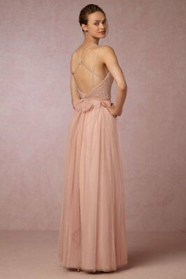 0d0016c2ddac New Anthropologie Bhldn Watters Rosewood Isadore Sequin Tulle Gown Dress  Size 6