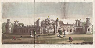 1800 Petrowsker Palais Moskau Moscow Russland Russia Kupferstich engraving