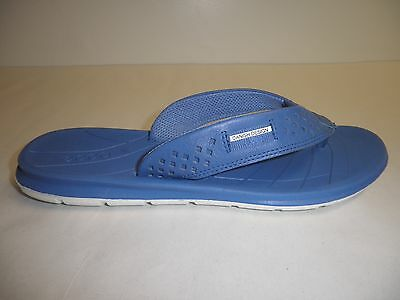 2ef7f7d8ce73 Ecco Size 9 to 9.5 INTRINSIC TOFFEL Blue Leather Thong Sandals New Womens  Shoes
