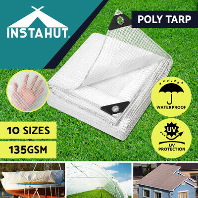 Instahut Heavy Duty Poly Tarps Tarpaulin Camping Tarp Canvas Cover Tent UV Proof