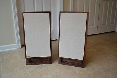 Pair Solid Walnut Speaker Stands For DYNACO A-25 ENGRAVED Vintage Retro Custom