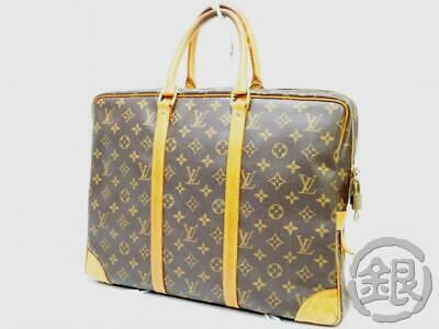 de4510352fc Auth Pre-Owned Louis Vuitton Monogram Porte-Documents Voyage Bag M53361  190358