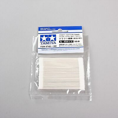 Tamiya Tools Craft Cotton Swab 87103 Round/Extra Small 50pcs for model kit