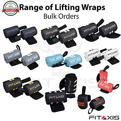 FITAXIS Power lifting Elasticated Wrist Support Gym Training Straps Thumb Loop