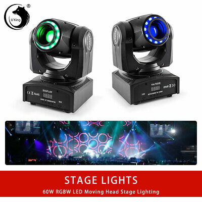 2PCS RGBW 60W U`King Moving Head Stage Lights Party Disco DJ Lighting Bar DMX512