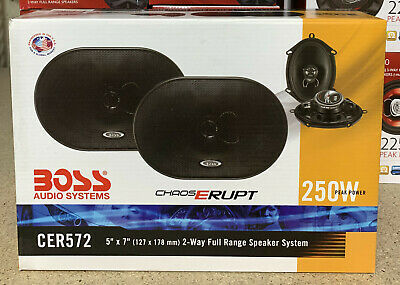 Boss CH6530 Chaos Series 6.5'' Car 3-Way 300W Coaxial Audio Speakers OPEN-BOX