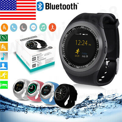 97381044eb7 Y1 Waterproof Bluetooth Smart Watch Phone with case Mate For Android IOS  iPhone