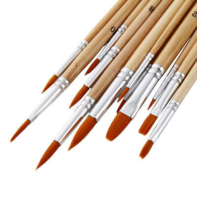 Artist Paint Brushes Art Set Nylon Hair Acrylic Watercolor Oil Painting Brush CB