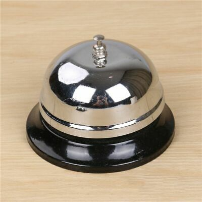 Silver Hotel Service Bell Reception Desk Counter Ring Functioning Traditional