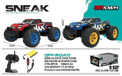 1:12 RC HUGE MAX FASHION Buggy High Speed Remote-Control Off-Road Car RTR Toy