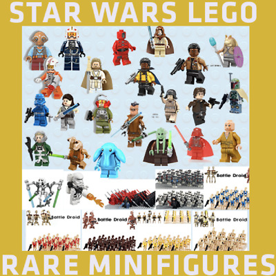 Lego And Custom Star Wars Minifigures / Rare Mini Figures The Last Jedi Minifigs