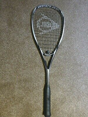 "Dunlop Blackstorm Carbon Graphite Squash Racket 4"" grip 27"" length 179g"