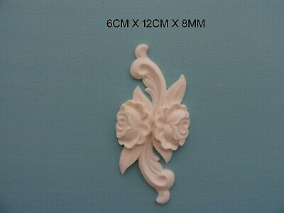 Decorative escutcheon and scrolls furniture moulding resin key hole onlay 033A