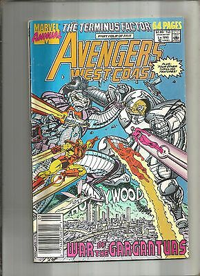 West Coast Avengers Annual #5  The Terminus Factor Iv  Marvel 1990