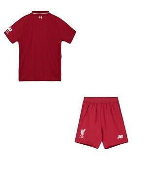 Liverpool Home Shirt And Shorts Kids Kit Bnwt 2018-2019 Uk Stock