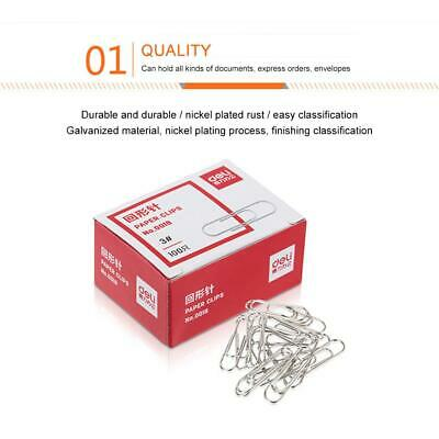 Classic Paperclips 20mm Box of 1000 Plain Metal Steel Paper Clips Holders Round