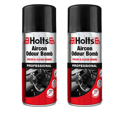 2 x CAR AIR CON AC CLEANER CONDITIONING PURIFIER VALET CLEANING BOMB 150ml