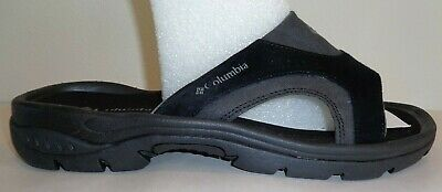 cf7d8db37cab Columbia Size 11 M TANGO SLIDE Black Suede Leather Sandals New Mens Shoes