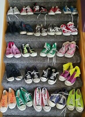 f59a6e06a1a Reseller Lot 23 Pairs Converse Chuck Taylor Shoes Low High Tops sz 4-11.5  RESALE