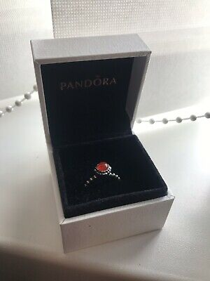 8a5e80486 PANDORA JULY BIRTHSTONE Ring Size 50- Excellent Condition - £20.00 ...