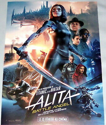 ALiTA BATTLE ANGEL   CyberPunk  Rosa Salazar cyborg  Gunnm   SMALL French POSTER