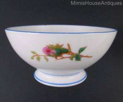 Antique Haviland  MOSS ROSE  - CRANBERRYBOWL -  BLUE trim - Limoges c.1880's
