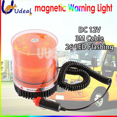Amber Warning LED Light Flashing Magnetic Lamp Emergency Car Truck Beacon