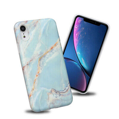 Retro Slim Fit Blue Marble Case Soft TPU Protective Phone Covers For iPhone