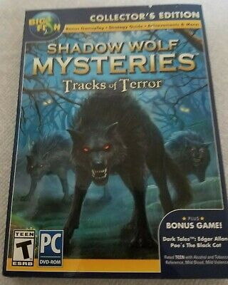Big Fish Pc  Dvd Shadow Wolf Mysteries Tracks Of Terror Collector's Edition New