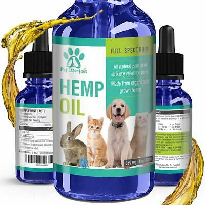 Hemp Oil for Dogs Cats and Pets Separation Anxiety Relief Calming Joint Support