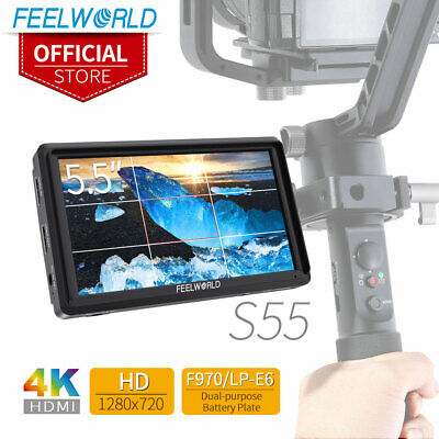 "New FEELWORLD S55 5.5"" IPS Camera Field DSLR Monitor Focus Assist 1280x720 HDMI"