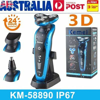 KEMEI Men Nose Ear Hair Removal Trimmer Wet and dry Electric Shaver Razor Beard