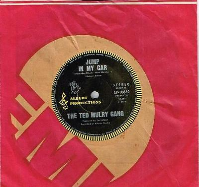 """The Ted Mulry Gang - Jump In My Car - Rare 7"""" 45 Vinyl Record - 1975"""