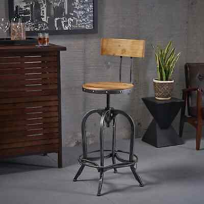 Awesome Stirling Adjustable Wood Backed Bar Stool By Christopher Inzonedesignstudio Interior Chair Design Inzonedesignstudiocom