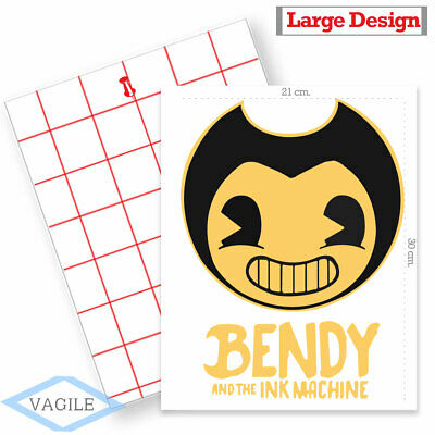 IRON ON TRANSFER or STICKER - Bendy and The Ink Machine - T-SHIRT HOODY LOGO A4