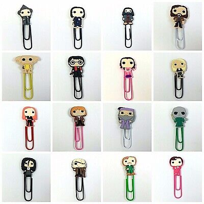 Harry Potter Bookmark, Bobblehead Paperclip Book Mark Gift, Dobby Hagrid Luna