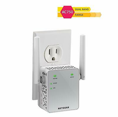 Netgear Ac750 Mbps Repetidor Inalambrico a Internet Wi-fi Router Booster Rang...