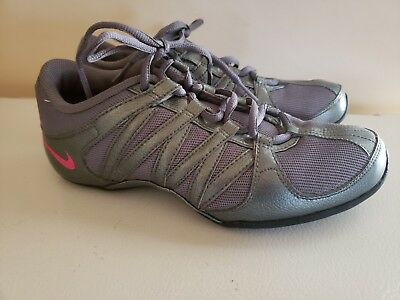 5f62cef60f5 NIKE WOMENS MUSIQUE IV 324751-063 Gray Pink Dance Cheer Shoes Non ...