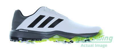 d9b3a90d48cc8 New Mens Golf Shoe Adidas Adipower Bounce Wide 10 White Grey Lime MSRP  100