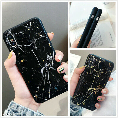 Slim Fit Protective Case Marble Phone Cover For iPhone 7 8 Plus Xs Max XR X