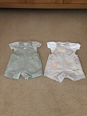 Next Baby Boys Dungaree Sets Bundle Up To 1 Month / 10 Lbs